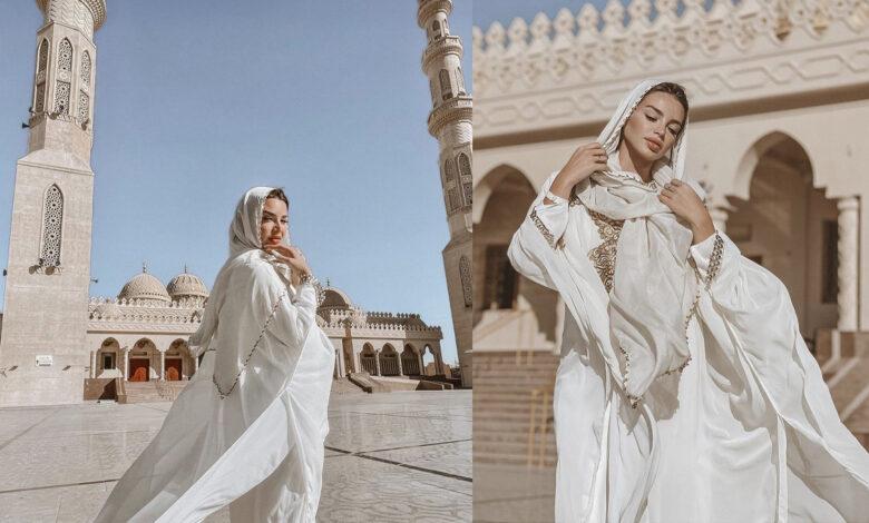 راقصة تزور مسجداً في مصر وتسبب جدلاً واسعاً ..الحكومة تُعلق