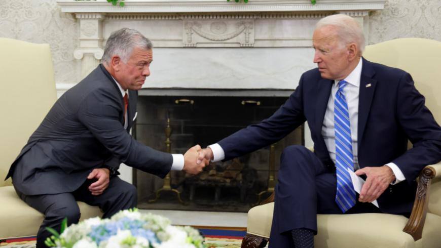 """بايدن وملك الأردن يجتمعان حول سوريا ويصرحان """"التحديات القادمة هائلة"""""""