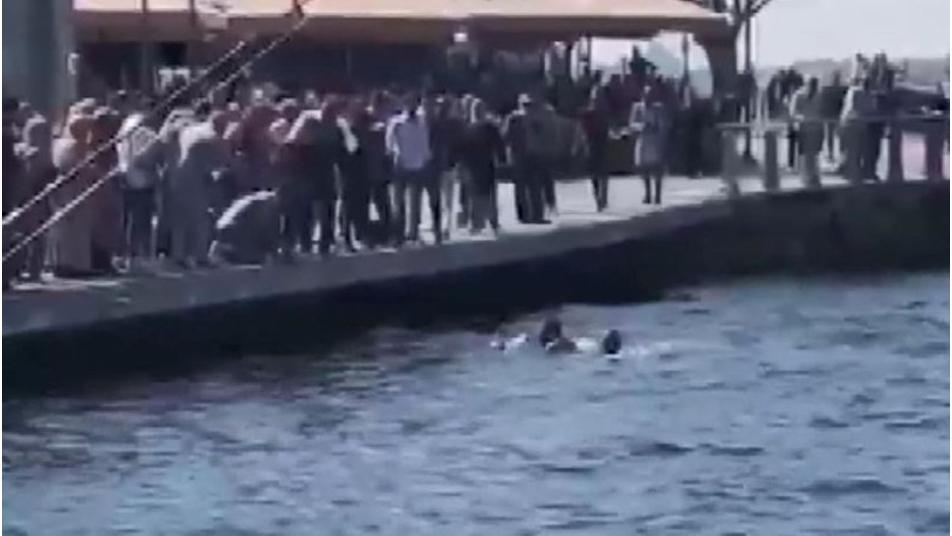 لحظات مخـ.ـيفة.. انتشـ.ـال فتاة سورية سقـ.ـطت في البحر ب إسطنبول ومنقـ.ـذها يروي التفاصيل (فيديو)