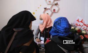 صبايا في إدلب يوجهن رسالة معبرة للشباب السوريين خارج البلاد