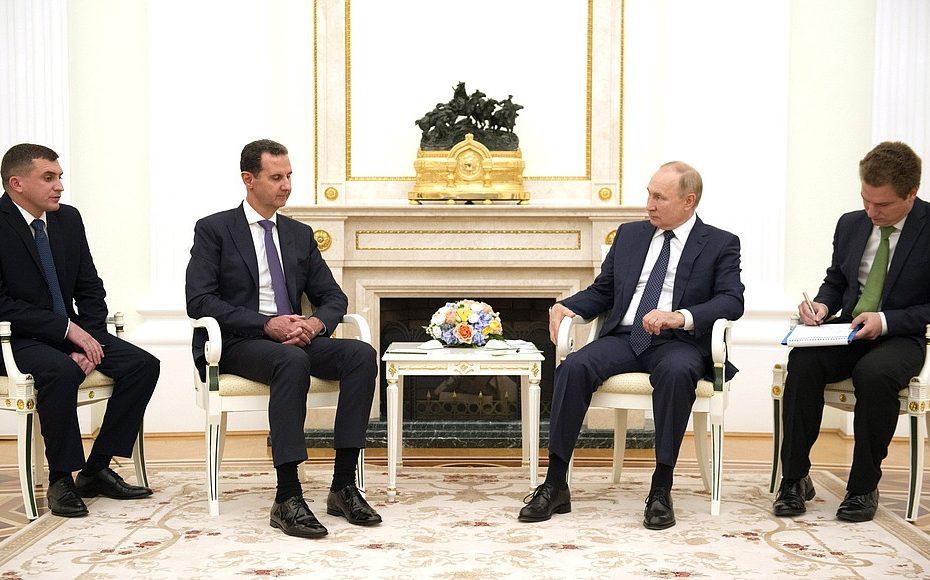 الكرملين يكـ.ـشف عن ماجرى بين بوتين وبشار في الزيارة السـ.ـرية.. وإهـ.ـانة بوتين له بطـ.ـريقة غير مسبوقة