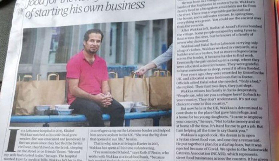 شاب سوري يصل إلى بريطانيا ويصبح حديث الصحف بعد إرشاده السوريين للقدوم عبر طريقه السهل والنظامي