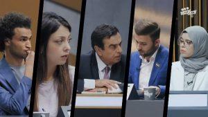 مواجهة بين إعلامي سوري مؤيد للثـ.ـورة والإعلامي الموالي لبشار الأسد جورج قرداحي (فيديو)